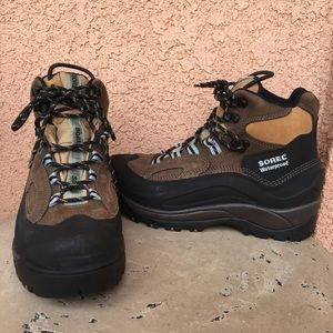 Sorel Leather Hiking Boots Waterproof Lace Up
